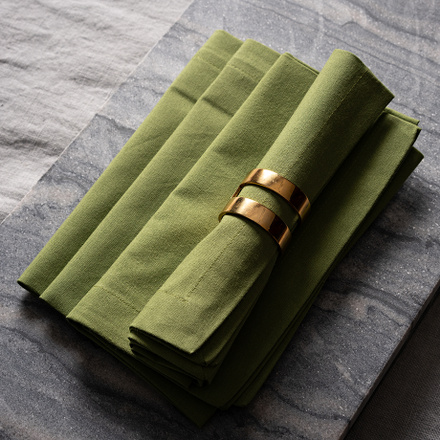 Robert Napkin 4-Pack - Moss Green