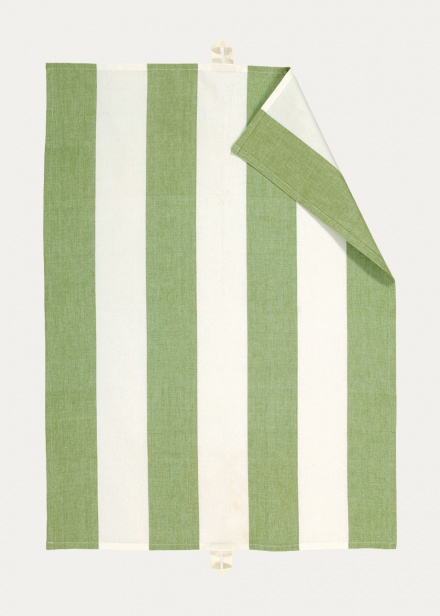 Ravioli Tea Towel - Moss Green