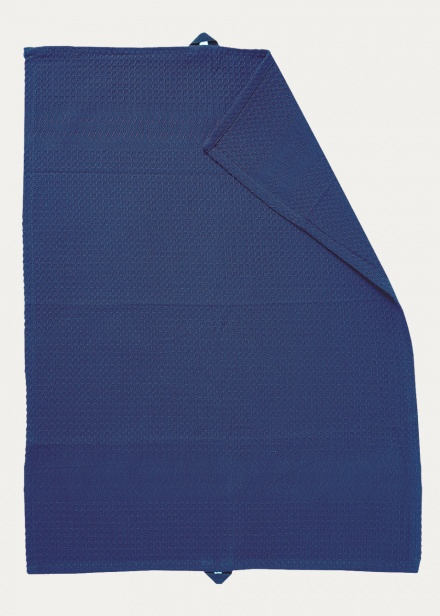 Waffel Tea Towel - Indigo Blue