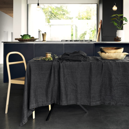 West Tablecloth - Granite Grey