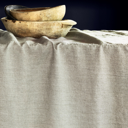 West Tablecloth - Linen Beige