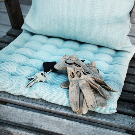 Pepper Seat Cushion - Dusty Turquoise