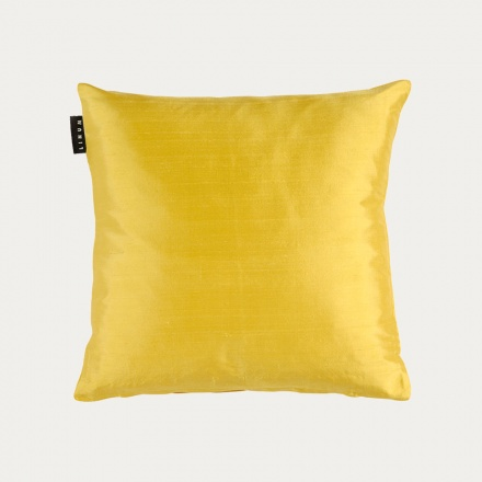 Silk Cushion Cover - Mustard Yellow