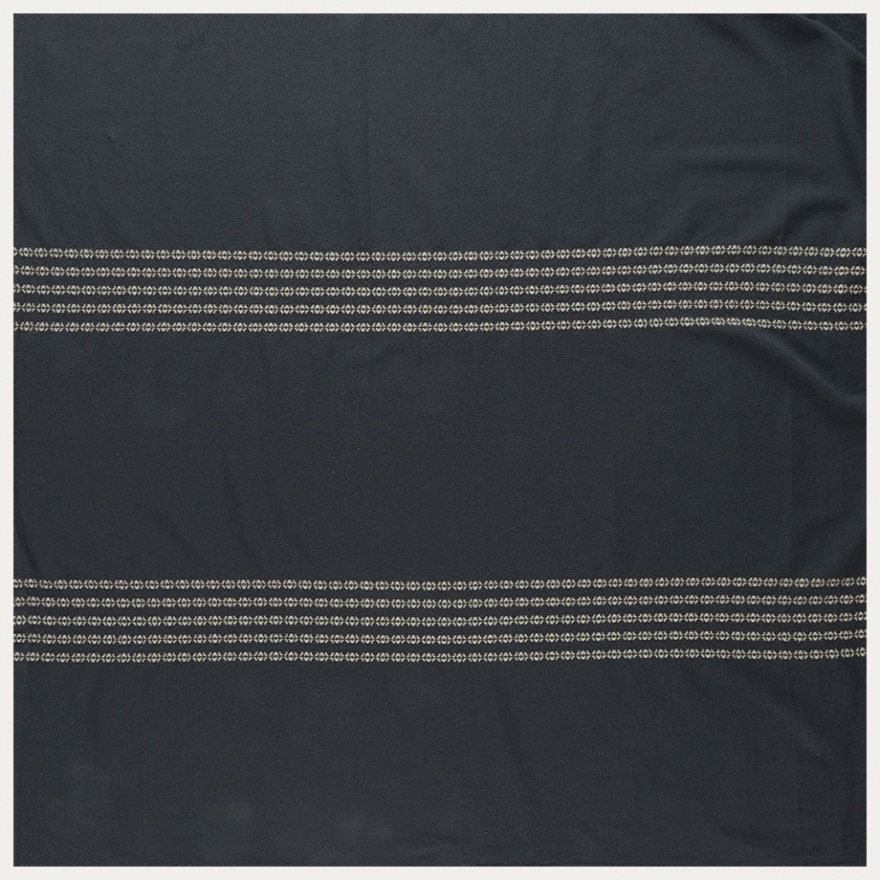 Whyte Tablecloth   Dark Charcoal Grey