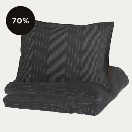 Riverdale Duvet Cover Ebony Grey