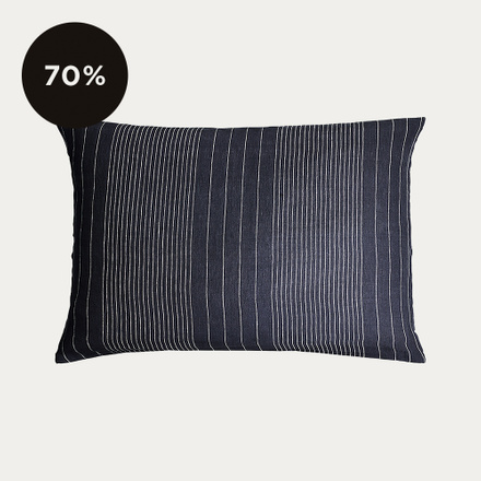 Riverdale Pillowcase - Ebony Grey