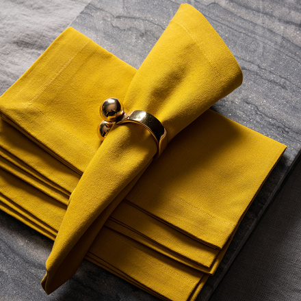 Robert Napkin 4-Pack - Mustard Yellow