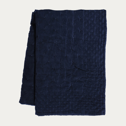 Paolo Bedspread - Ink Blue