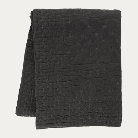 Paolo Bedspread - Dark Charcoal Grey