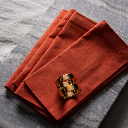 Robert Napkin 4-Pack - Rusty Orange