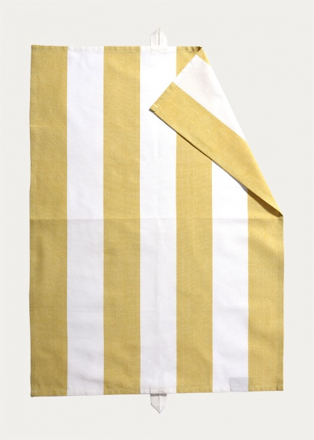 Ravioli Tea Towel - Mustard Yellow