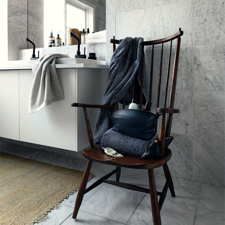 Avilon Bath Towel - Dark Steel Blue