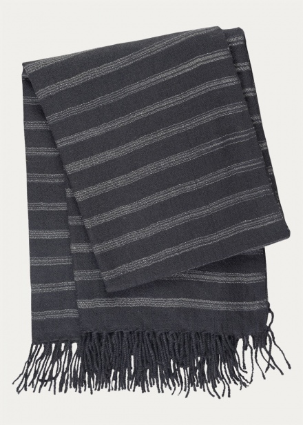 Nara Throw  - Dark Charcoal Grey