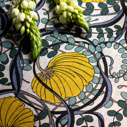 Nouveau Tablecloth - Mustard Yellow