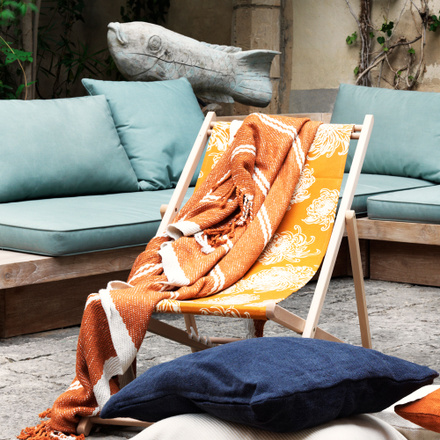 Auster Sun Chair Fabric - Golden Orange