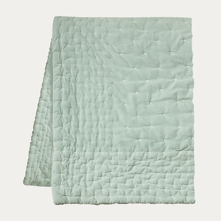 Paolo Bedspread - Light Ice Green