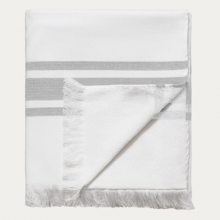 Aki Bath Towel - Light Stone Grey