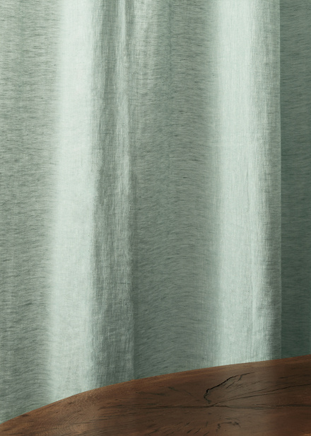 Intermezzo Curtain - Dark ice green