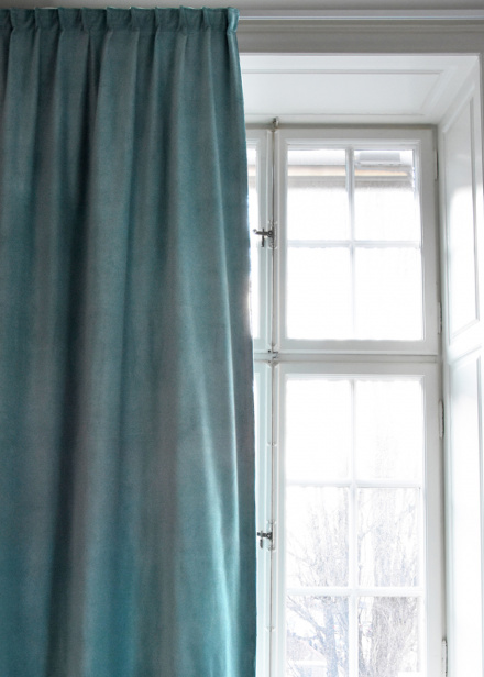 Paolo Curtain - Bright grey turquoise