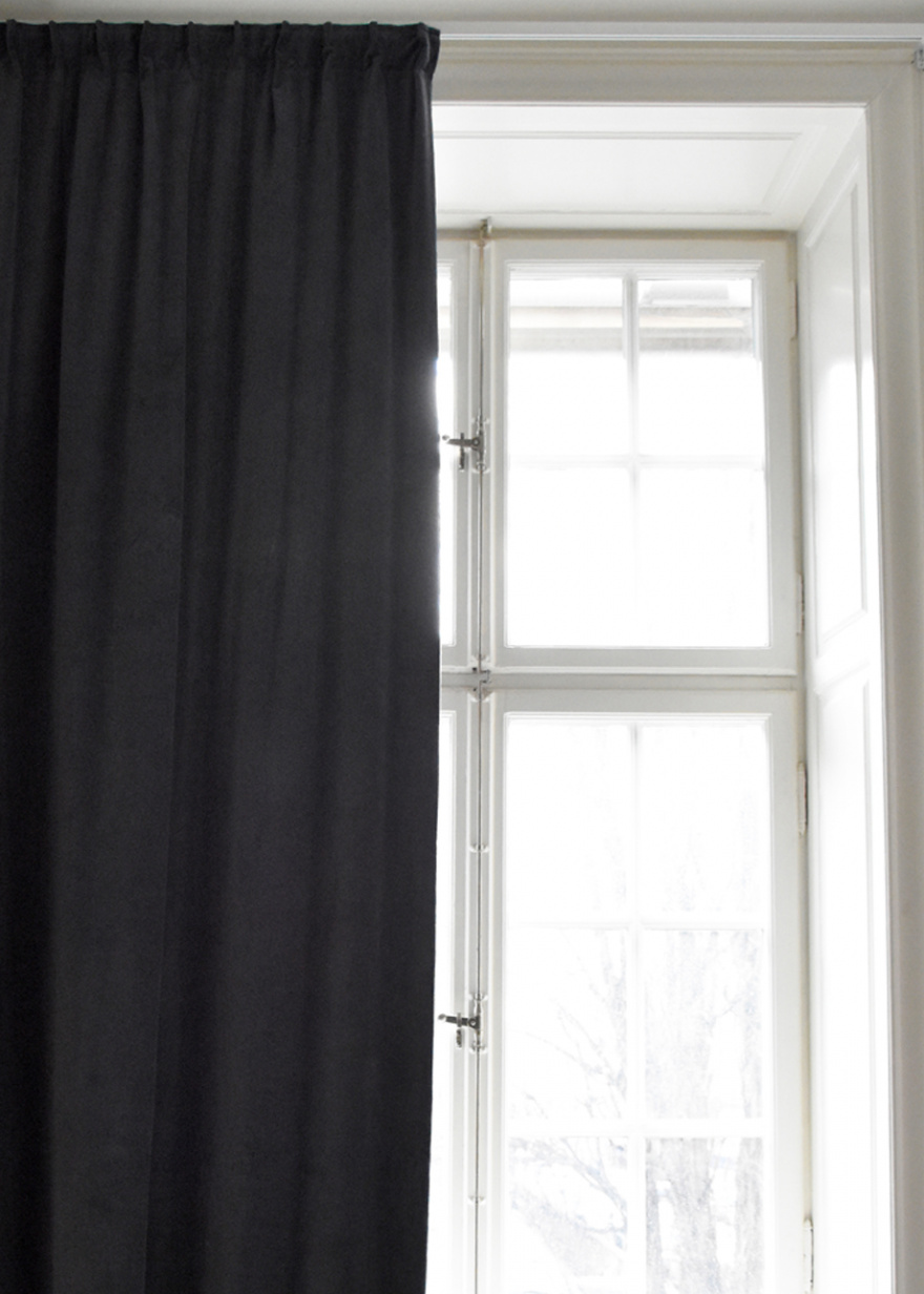 Paolo Curtain Dark Charcoal Grey Paolo Curtains