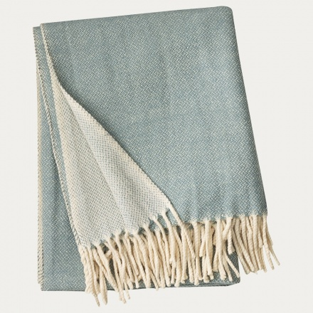 Bogart Throw - Dark Ice Green