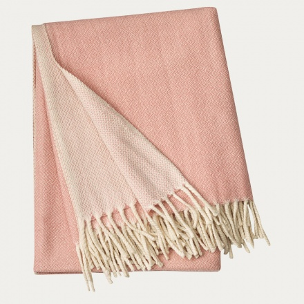 Bogart Throw - Misty Grey Pink