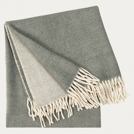 Bogart Throw - Dark Charcoal Grey