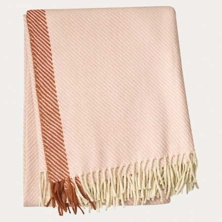 Hayworth Throw - Misty Grey Pink