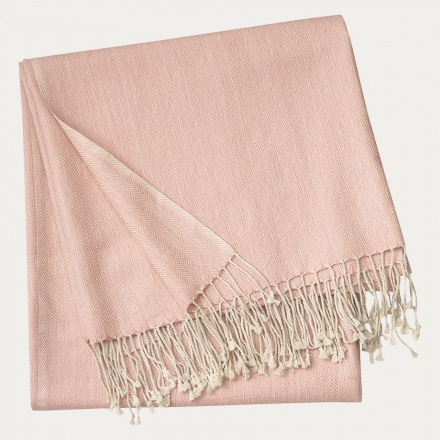 Vertigo Throw - Misty Grey Pink