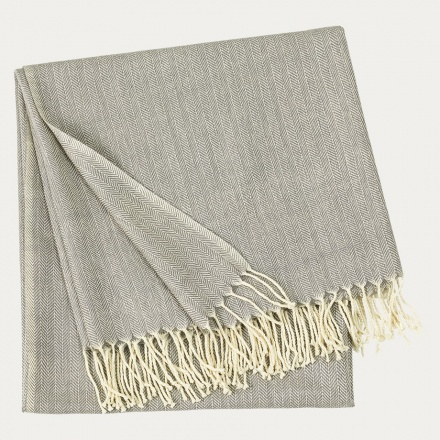 Vertigo Throw - Light Stone Grey