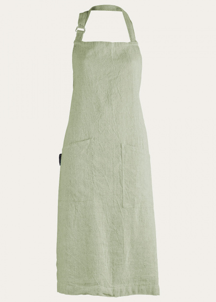 Hedvig Apron - Bright Grey Turquoise