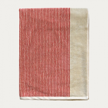 Venezia Bath Towel - Coral Red
