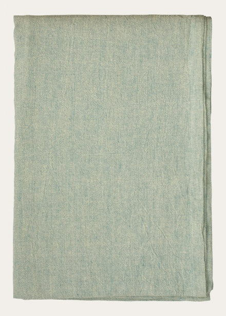Hedvig Tablecloth - Bright Grey Turquoise