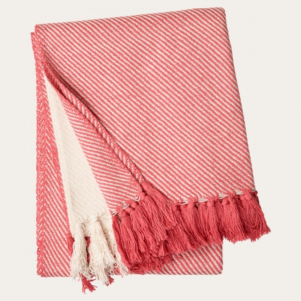 Lecce Throw - Coral Red
