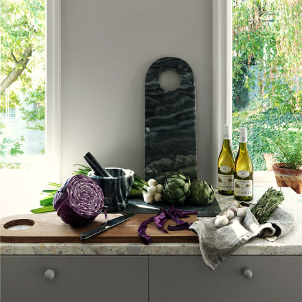 Mable Serving Tray - Granite Grey