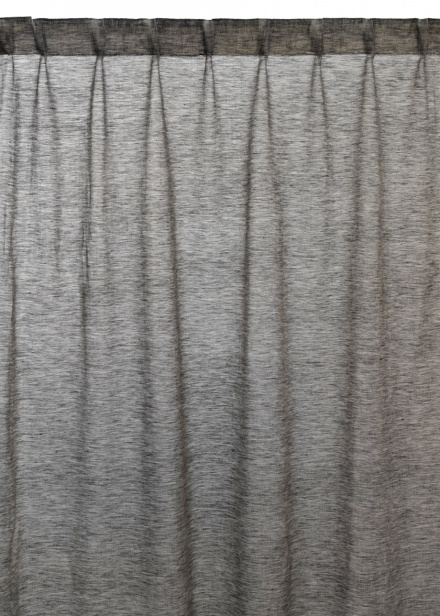 Intermezzo Curtain - Dark Charcoal Grey