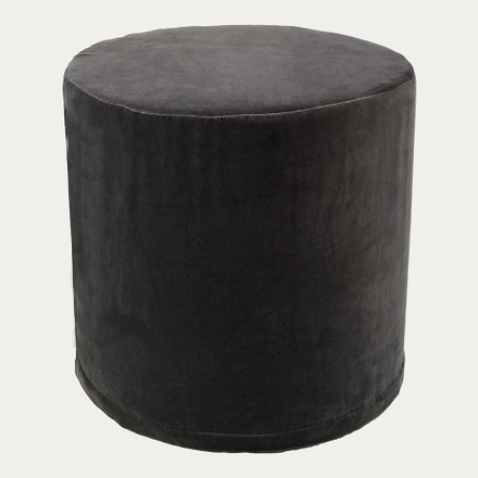 PAOLO POUF COVER - Dark Charcoal Grey