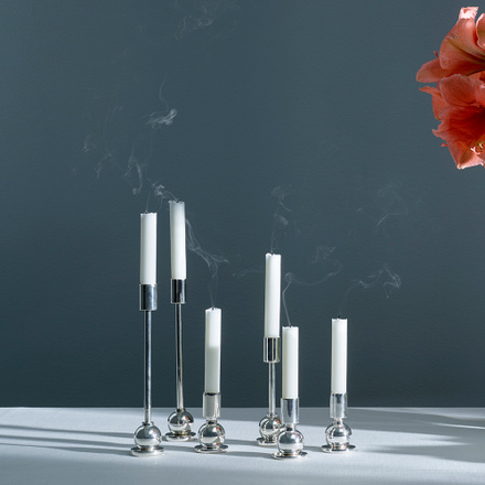 KAHN CANDLE HOLDER L - SILVER