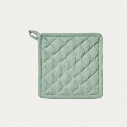 Sara Pot holder - Bright grey turquoise