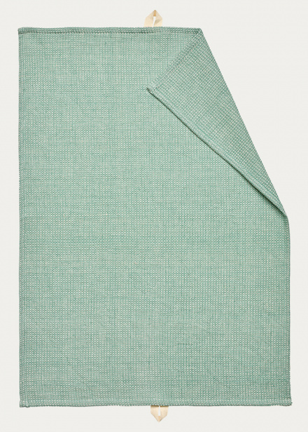 Agnes Tea towel - Bright grey turquoise