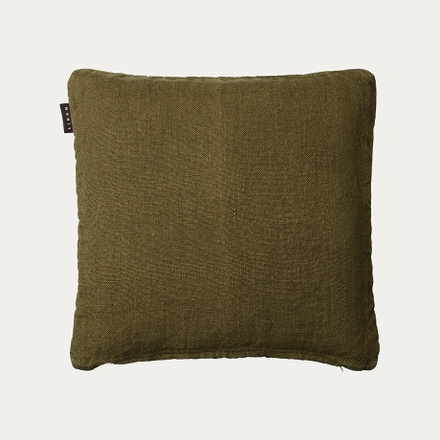 Raw Cushion cover - Golden olive green