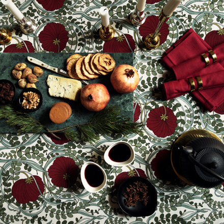 Nouveau Tablecloth - Dark red