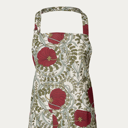 Nouveau Apron - Dark red