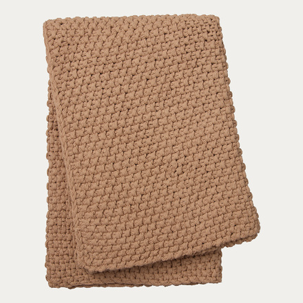 Drottningholm Throw - Camel Brown