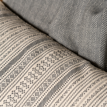 Daisy Cushion cover - Dark charcoal grey