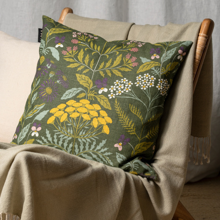 Midsummer Cushion cover - Light olive green