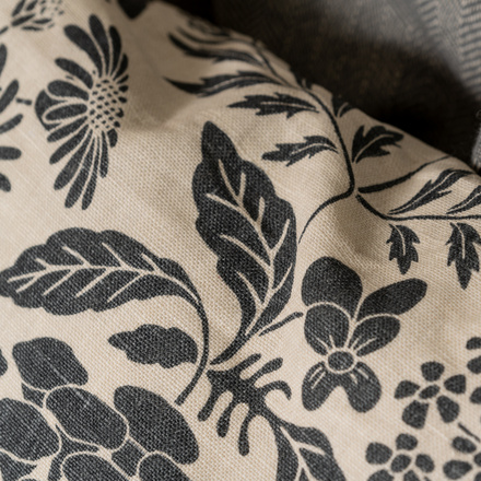 Midsummer Cushion cover - Dark charcoal grey