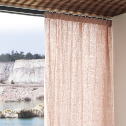 West Curtain Pleat band- Light dusty pink