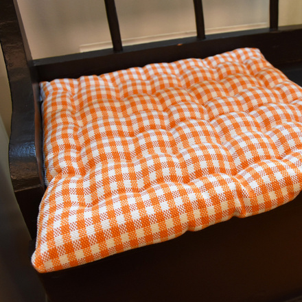 Osby Seat Cushion - Deep Apricot Orange